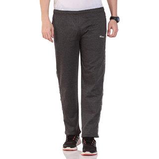 TAB91 Men's Cotton Fleece Solid Dark Grey Trackpant