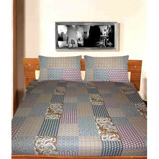 STYLISH SELF DESINE COTTON BEDSHEET WITH PILLOW COVERS ( MC 0148 )