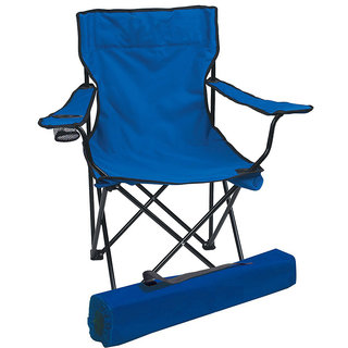 Kawachi Folding Camping Chair Portable Fishing Beach Outdoor Collapsible Chairs - K52-Blue