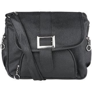 Tarshi Pu Black Sling Bag For Women