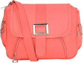 Tarshi Pu Pink Sling Bag For Women