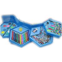 COLORS BOX SET OF 46 PCS,COLOR PENCIL ,CRAYONS , WATER COLOR, SKETCH PENS ETC