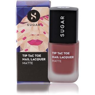 SUGAR Tip Tac Toe Nail Lacquer - 037 Peachy Little Liars (Matte Nude Pink)