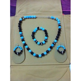 blue and black agate