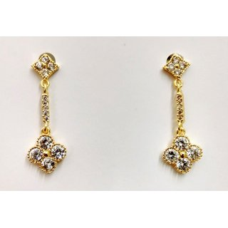 Gahane CZ studded Gold Polished Small Earings for regular wear