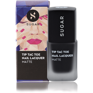 SUGAR Tip Tac Toe Nail Lacquer - 031 Black In Business (Matte Jet Black)