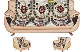 Shiv kirpa Floral 5 Seater Sofa Cover