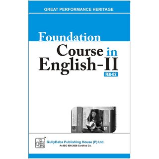 FEG2 Foundation Course in EnglishII (IGNOU Help book for  FEG-2  in English Medium)