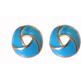 Fancy Blue Earrings - 696
