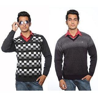 Duke Combo Pack of 2 Knitted Sweaters   S6005Anthra-S6008Purple