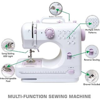 Tradeaiza Sewing Machine Sewing505A12Stitch Electric Sewing Machine ( Built-In Stitches 12)