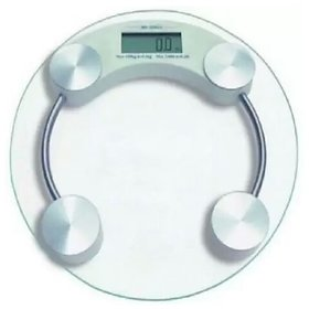 Tradeaiza PERSONNAL Round Weighing Scale(White)