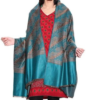 Stylish Designer Multicolor Woolen Shawl