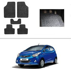 AutoStark Best Quality Set of 5 Carpet Grey Car Foot Mat / Car Floor Mat for Hyundai Eon
