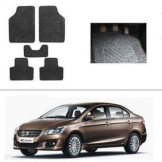 AutoStark Best Quality Set of 5 Carpet Black Car Foot Mat / Car Floor Mat for  Maruti Suzuki Ciaz