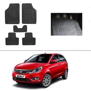 AutoStark Best Quality Set of 5 Carpet Black Car Foot Mat / Car Floor Mat for  Tata Bolt