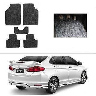 AutoStark Best Quality Set of 5 Carpet Black Car Foot Mat / Car Floor Mat for  Honda City (2014 Upwards)