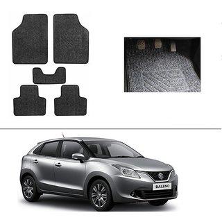 AutoStark Best Quality Set of 5 Carpet Black Car Foot Mat / Car Floor Mat for  Maruti Suzuki New Baleno