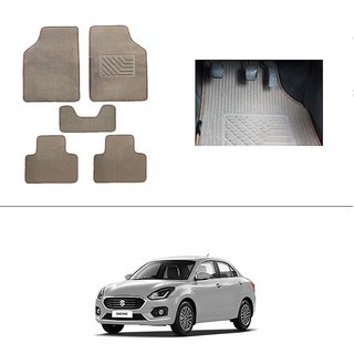 AutoStark Best Quality Set of 5 Carpet Beige Car Foot Mat / Car Floor Mat for Maruti Suzuki New Swift Dzire 2017