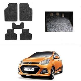 AutoStark Best Quality Set of 5 Carpet Black Car Foot Mat / Car Floor Mat for  Hyundai Grand I10