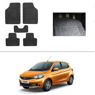 AutoStark Best Quality Set of 5 Carpet Black Car Foot Mat / Car Floor Mat for  Tata Tiago