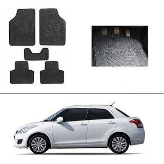 AutoStark Best Quality Set of 5 Carpet Black Car Foot Mat / Car Floor Mat for  Maruti Suzuki Swift Dzire (Old)