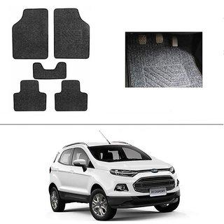 AutoStark Best Quality Set of 5 Carpet Black Car Foot Mat / Car Floor Mat for  Ford Ecosports