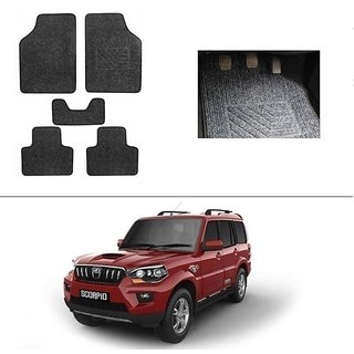 AutoStark Best Quality Set of 5 Carpet Grey Car Foot Mat / Car Floor Mat for Mahindra New Scorpio 2015