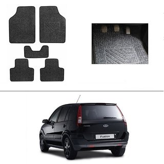 AutoStark Best Quality Set of 5 Carpet Grey Car Foot Mat / Car Floor Mat for Ford Fusion
