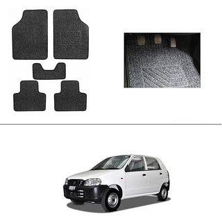 AutoStark Best Quality Set of 5 Carpet Grey Car Foot Mat / Car Floor Mat for Maruti Suzuki Alto (Old)