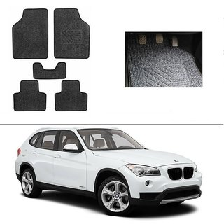 AutoStark Best Quality Set of 5 Carpet Black Car Foot Mat / Car Floor Mat for  BMW X-1