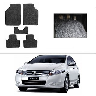Buy Autostark Best Quality Set Of 5 Carpet Black Car Foot Mat Car