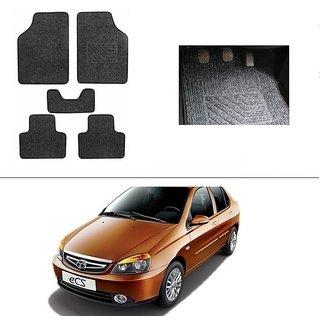 AutoStark Best Quality Set of 5 Carpet Grey Car Foot Mat / Car Floor Mat for Tata Indigo Ecs