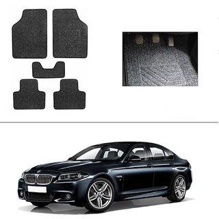 AutoStark Best Quality Set of 5 Carpet Grey Car Foot Mat / Car Floor Mat for BMW 5-Series