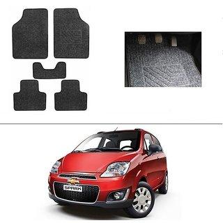 AutoStark Best Quality Set of 5 Carpet Black Car Foot Mat / Car Floor Mat for  Chevrolet Spark