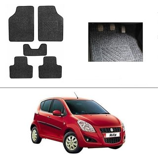 AutoStark Best Quality Set of 5 Carpet Grey Car Foot Mat / Car Floor Mat for Maruti Suzuki Ritz