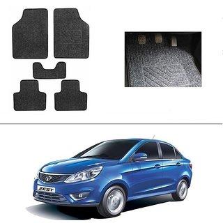 AutoStark Best Quality Set of 5 Carpet Grey Car Foot Mat / Car Floor Mat for Tata Zest
