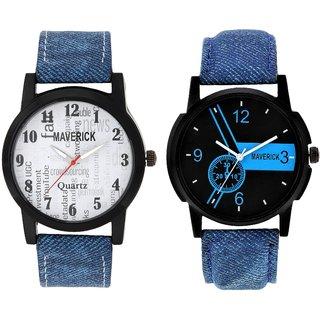 Gen Z GENZ-CO-SOC-DEN-0001 combo of 2 Youth Denim watches