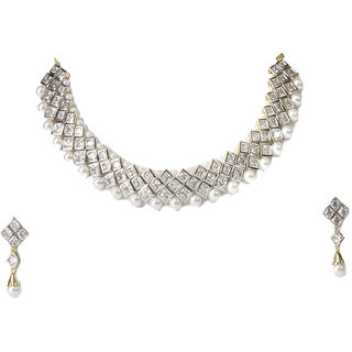 0e680624b74 american diamond necklace Prices in India- Shopclues- Online Shopping Store