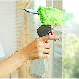 3 in 1 Easy Glass Spray type Cleaning Brush Glass Wiper Window Cleaner Brush