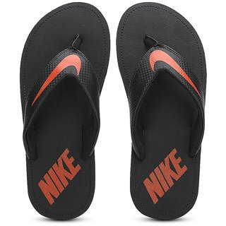 Nike Chroma Thong IV Black Orange Slippers