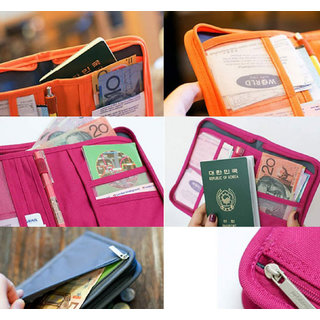 1a7545f7aa8b House of Quirk Travel Passport Wallet Document Holder (Orange)