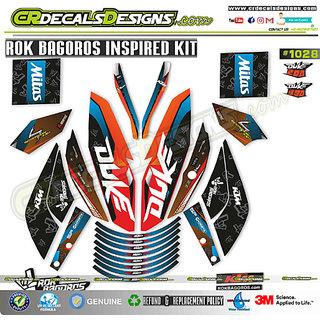 CR Decals Ktm Duke ROK BAGOROS INSPIRED EDITION Sticker Kit (Duke 200/390)