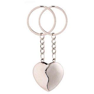 Valentine Love Broken Heart Key Chain  (Silver)