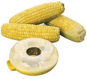 Corn Cutter And Peeler Plastic And Stainless Steel Pack of 2