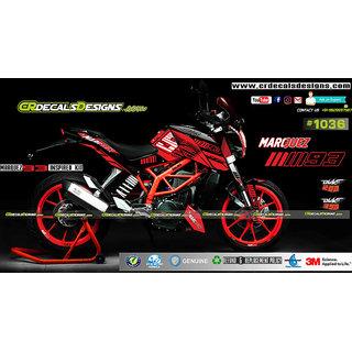 CR Decals Ktm Duke MARQUEZ 93 INSPIRED EDITION Sticker Kit (Duke 200/390)