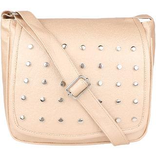 Tarshi Pu Beige Sling Bag For Women