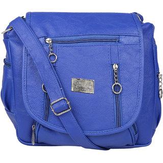 Tarshi Pu Blue Sling Bag For Women