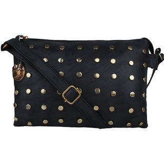 Tarshi Pu Black Sling Bag For Women