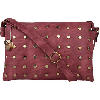 Tarshi Pu Pink Sling Bag For Women